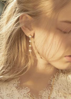 [IRIS JEWELRY/18SS 5%+5%쿠폰] 'Pearls of dew' Earring