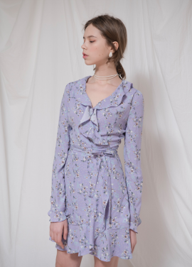 [VEMVER/18SS 5%+5%쿠폰] FLOWER PRINTED WRAP ONEPIECE