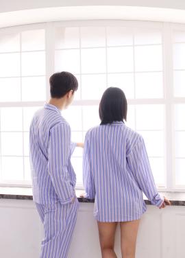 [TRAVEL MY ROOM/런칭기념10%+5%쿠폰] Red Blue Stripe Pajama Shirt