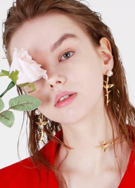 [DE LA LUNE/10%] Pearl Rose Earring[DL18SSER02MTF]