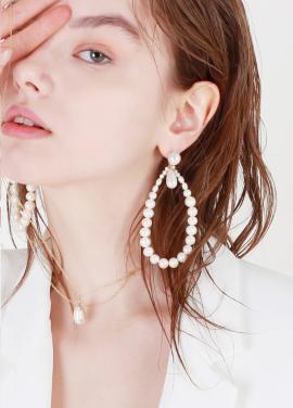 [DE LA LUNE/10%] Pearl Bloom Earring[DL18SSER22WHF]