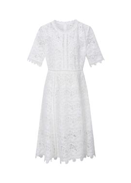 ◈Lace Half Sleeve Dress