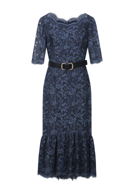 Lace Patterned Flare Dress