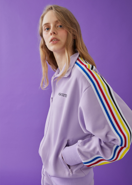[5%할인][MSKN2ND] LOGO TRACK TOP LILAC