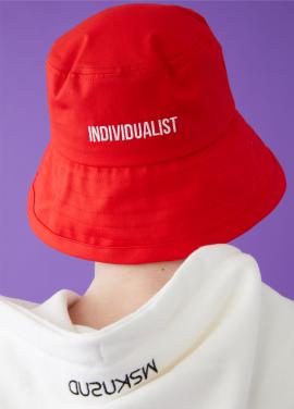 [이다희 착용★시즌오프10%할인/MSKN2ND][8/20 예약 배송]INDIVIDUALIST BUCKET HAT RED