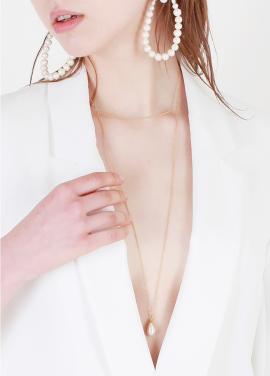 [DE LA LUNE/10%] Pearl Blossom Necklace[DL18SSNC03MTF]
