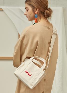 [수지착용★5%할인/THREEKNOCKS] mini canvasbag