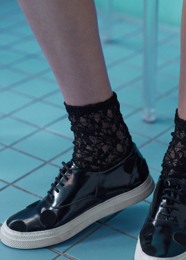[IHATEMONDAY/10%할인+5%쿠폰] flower lace black