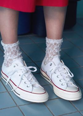 [IHATEMONDAY/10%할인+5%쿠폰] flower lace white