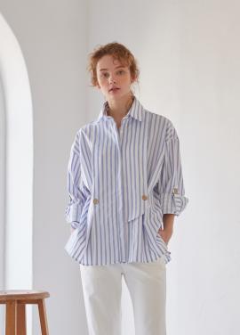 [YouNess 신상 5%할인+추가5%할인] Marine Stripe Shirt