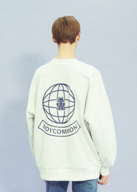[18SS 신상 10% 할인/NOYCOMMON] YOUTH PLANET SWEATSHIRT GY