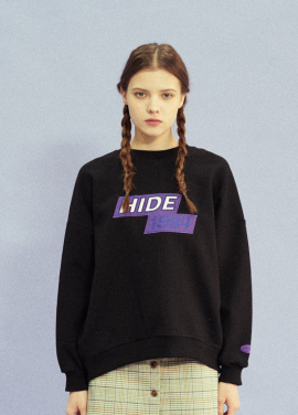 [18SS 신상 10% 할인/NOYCOMMON] HIDE 1984 SWEATSHIRT BK