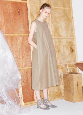 [단독할인★20%+5%/Mardi Mercredi] SLEEVELESS MAXI DRESS BEIGE