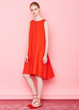 [단독할인★20%+5%/Mardi Mercredi] BACK-DETAILED DRESS ORANGE