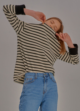 [신상5%할인+추가5%/ADDSENSE] Multi Color Stripe T-Shirt_White