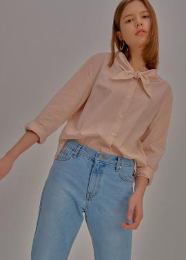 [5%할인/ADDSENSE] Sharp Collar Blouse_Pink