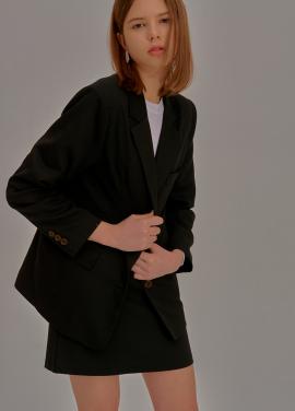 [5%할인/ADDSENSE] Simple Two Piece Skirt_Black