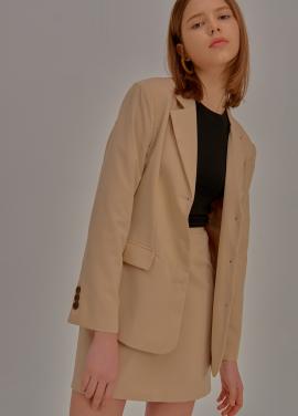 [5%할인/ADDSENSE] Simple Two Piece Skirt_Beige