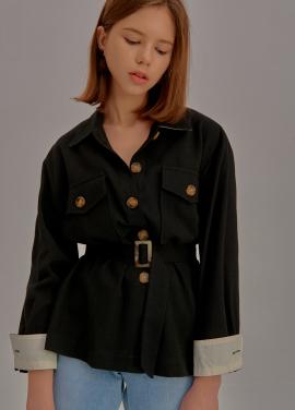 [5%할인/ADDSENSE] Square Pocket Jacket_Black