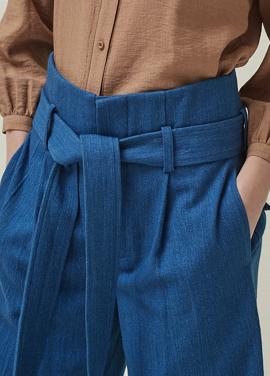 [5%신상할인+5%추가 / DONADONA]Belted Pants_Indigo