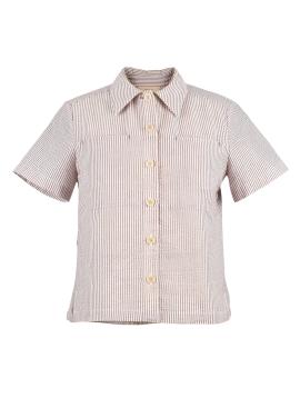 [시즌오프50%/DONADONA]Seersucker Shirts_Beige