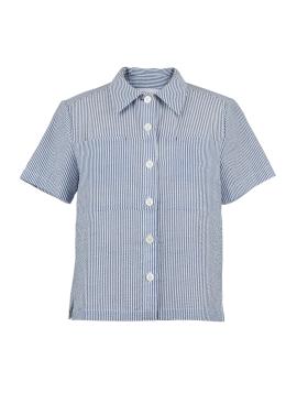 [시즌오프50%/DONADONA]Seersucker Shirts_Blue