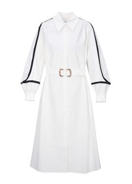 Line Point Volume Sleeve Dress