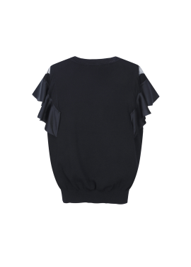 ◆ Sleeve Lavce Frill Pullover