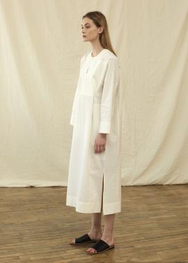 [10%할인+5%추가쿠폰/RAYETOG]TUNIC SHIRT DRESS R18D001 (OFF WHITE)