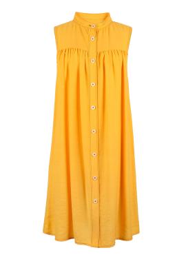 [5%할인/DONA DONA] Shirts Dress Yellow