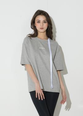 [신상 40%할인/ATICLE]Ribbon Point T-Shirt (Melange Gray)