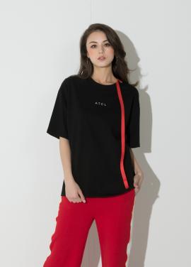 [신상 40%할인/ATICLE]Ribbon Point T-Shirt (Black)