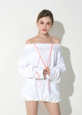 [ATICLE/18SS 신상 5%+5%쿠폰]Off_Shoulder String One-piece (White)