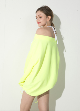 [ATICLE/18SS 신상 5%+5%쿠폰]Off_Shoulder String One-piece (Yellow)