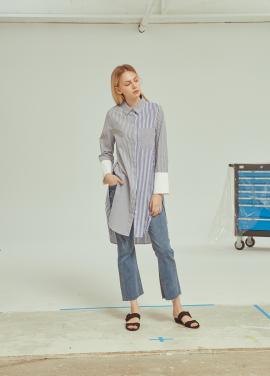 ◆(51%sale)Stripe Cotton Shirts Dress