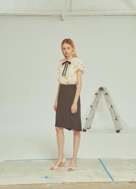 ◆Trimming H Line Skirt[주문폭주]