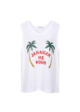 Jamaican Print Linen T-shirts