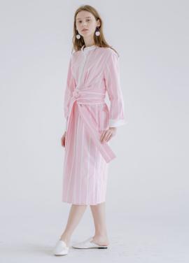 [신규런칭 7%할인쿠폰/kollab] SNOW COLLAR DRESS PINK