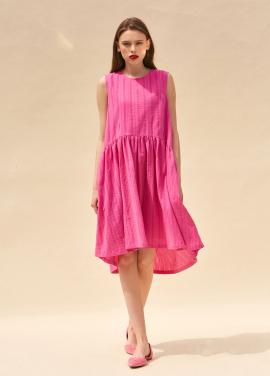 [단독 40%할인/THE SUIN] EASY FIT SLEEVELESS DRESS. HOT PINK