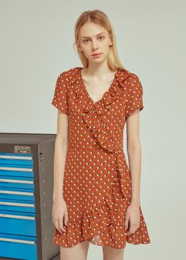 ◆V Neck Pattern Dress[주문폭주]