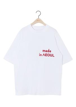 [6월22일 예약배송/5%할인쿠폰/NOHANT] MADE IN SEOUL T SHIRT WHITE