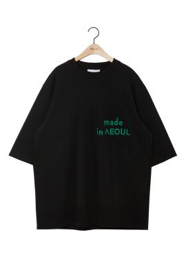 [6월22일 배송예정/5%할인쿠폰/NOHANT] MADE IN SEOUL T SHIRT BLACK