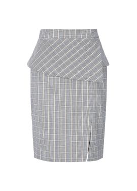 ◆ Check Patterned H Line Skirt