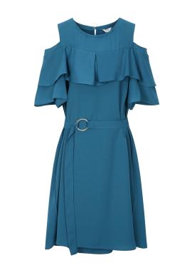 ◆Frill Off Shoulder Dress