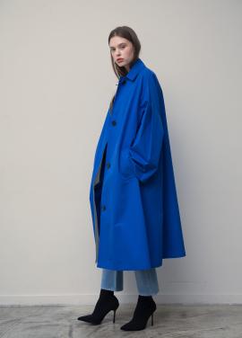 [20%단독특가/TEETH OFFICE] Blue Wide Oversize Coat