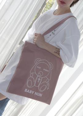 [5%쿠폰][CLUT STUDIO]1 1 baby nun eco bag pink