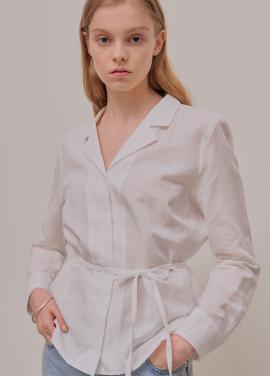 [5월신상 5%할인+5%쿠폰/ADDSENSE] Basic Strap Shirt_White