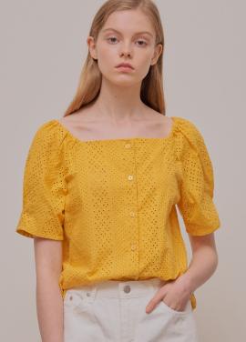 [수지착용★5%할인/ADDSENSE] Freesia Blouse_Yellow