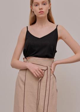 [5월신상 5%할인+5%쿠폰/ADDSENSE] Line Color Skirt_Beige