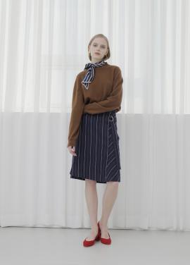 ◆Stripe Tie Lap Style Skirt[주문폭주]